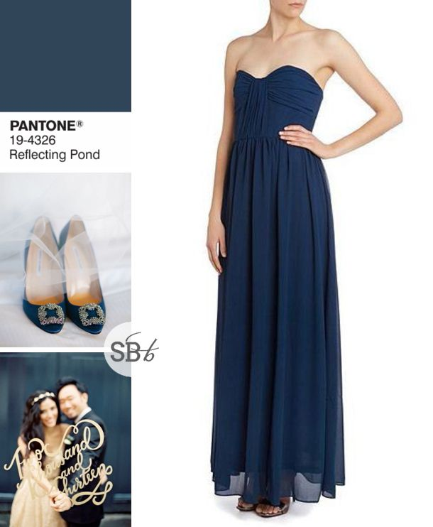 Pantone Fall 2015 Bridesmaid Dress Inspiration: Reflecting Pond | SouthBound Bride www.southboundbride.com/pantone-fall-2015-bridesmaid-dress-inspiration Image credits: Birds of a Feather Photography // Ed Osborn Photography