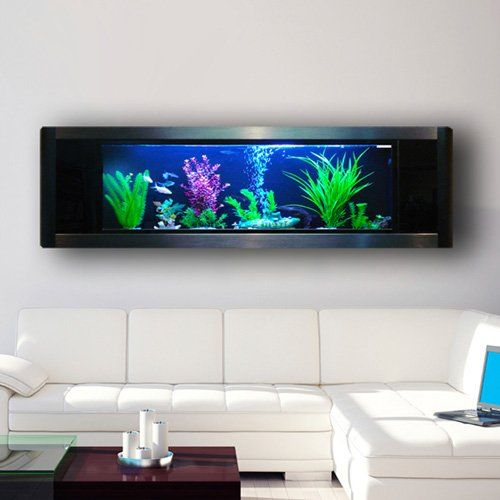 Hanging the aquavista panoramic wall aquarium in your home for Wall mounted fish tank