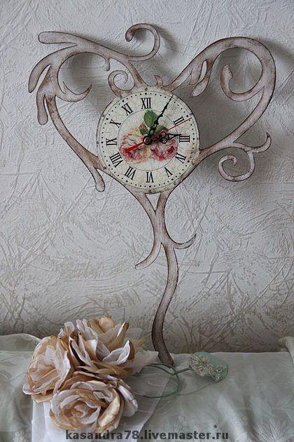 Купить Часы Винтажное сердце - винтажные часы, часы-сердце, шебби-шик, подарок женщине