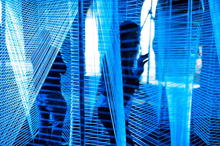 Lasermaze installation in Detroit by George King Architects
