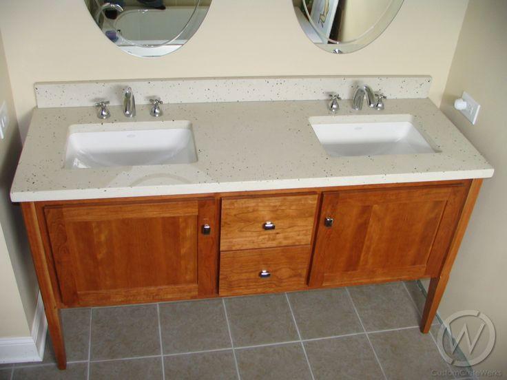 38 best images about bathroom concrete sinks countertops - Custom bathroom countertops with sink ...