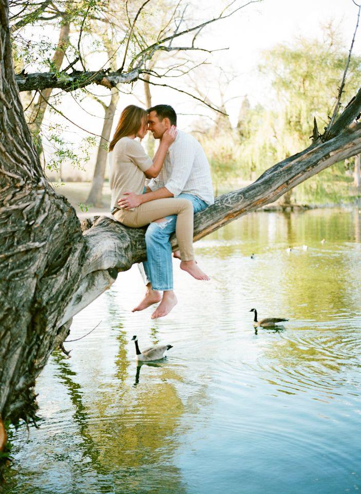 Two Little Love Birds Sitting In A Tree, K.I.S.S.I.N.G » Colorado Fine Art Wedding Photographer // Rachel Havel Photography