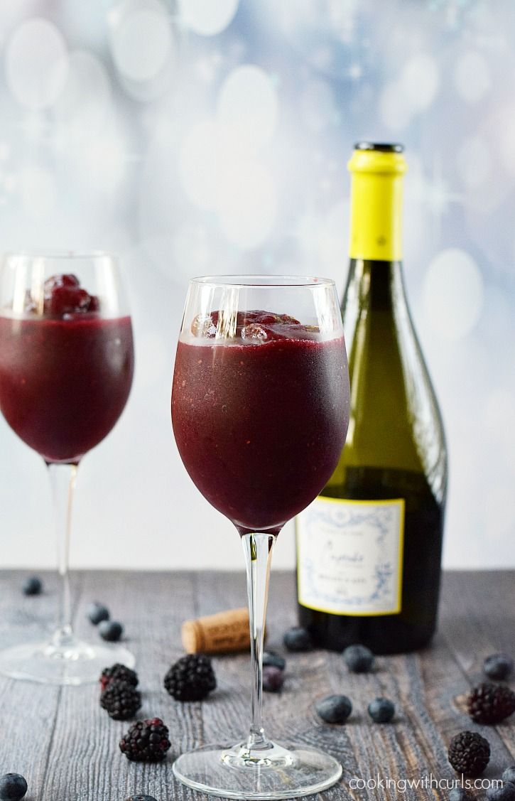 Wine Smoothie - just in time for summer  cookingwithcurls.com