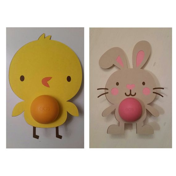 EOS Lip Balm Easter Card  Bunny or Chick and More-Available for Digital Download!!  Really cute Easter Basket gifts!