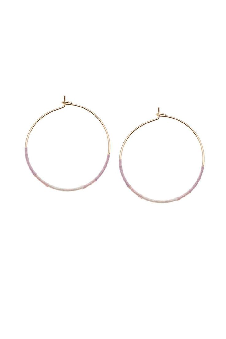 **Ombre Wrapped Hoop Earrings by Orelia - Jewellery - Bags & Accessories - Topshop Europe