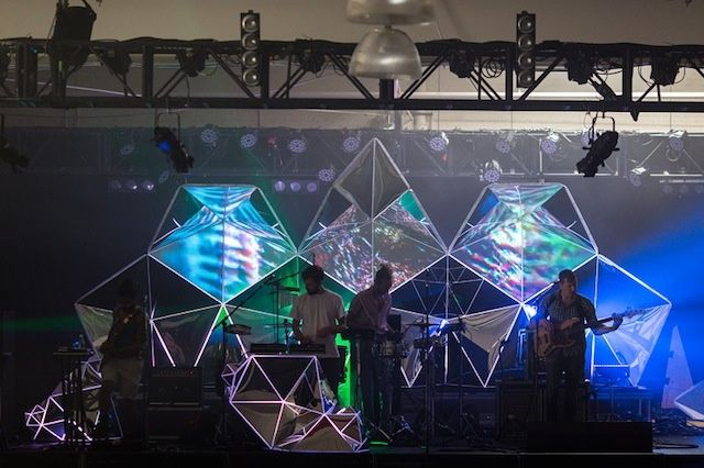 Casey Reas' Stage Design For Yeasayer / PVC Pipe?