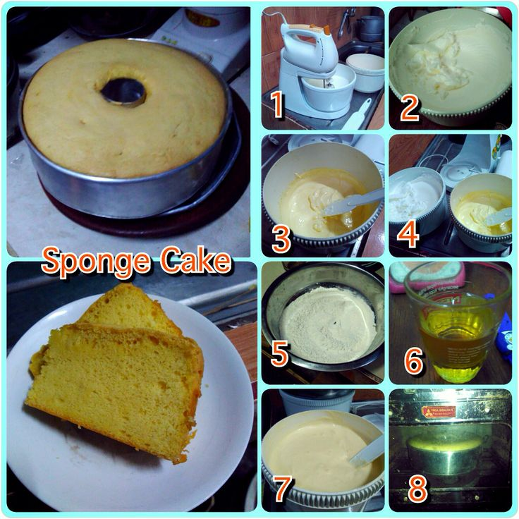 sponge cake, my mom's favourite