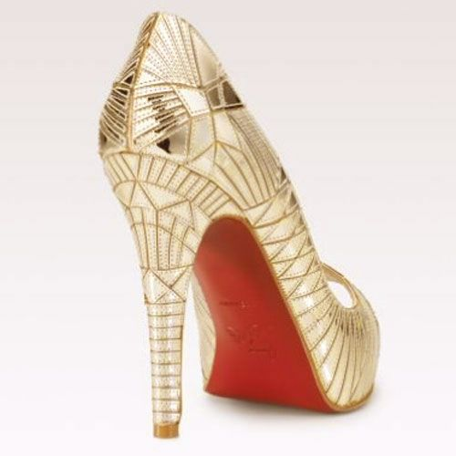 Louboutin Mirrored Platform Pumps #JulepColorChallenge and #CreateYourJulepColor