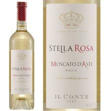 Il Conte d'Alba Stella Rosa Moscato D'Asti NV Capetta Moscato d' Asti is made from the Moscato di Canelli grape from the Piedmont region of Italy. Sweet but not overly sweet with just enough bubbles. Great as an aperitif or with light meals. Refreshing taste with a clean finish. 087872630122