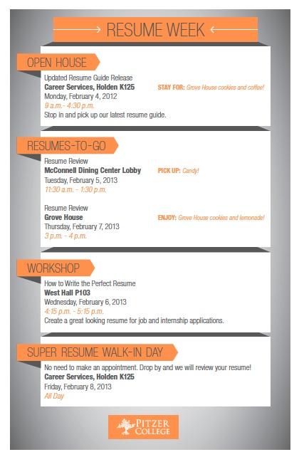 Resume Week Resources Pinterest
