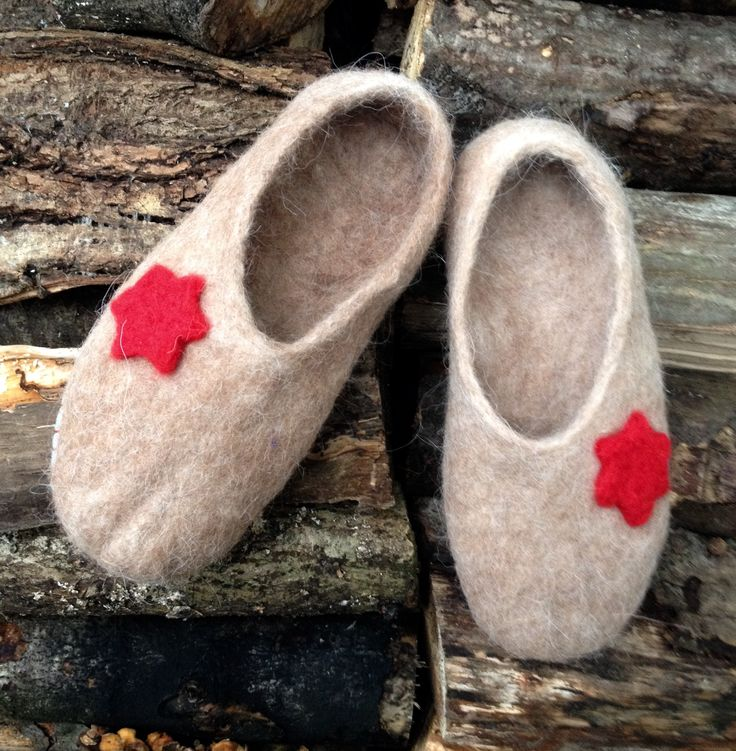 Wet felt slippers- Not as bright as my usual colour palette but these are VERY different wool, they're felted from gorgeous super soft alpaca fleece.
