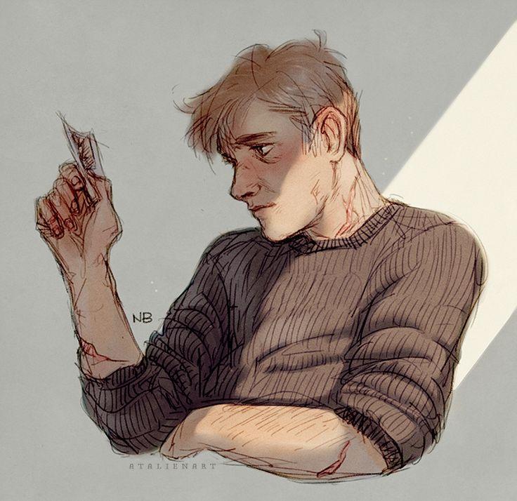 "atalienart: ""Remus Lupin "" This beautiful soul @polytheneputz"