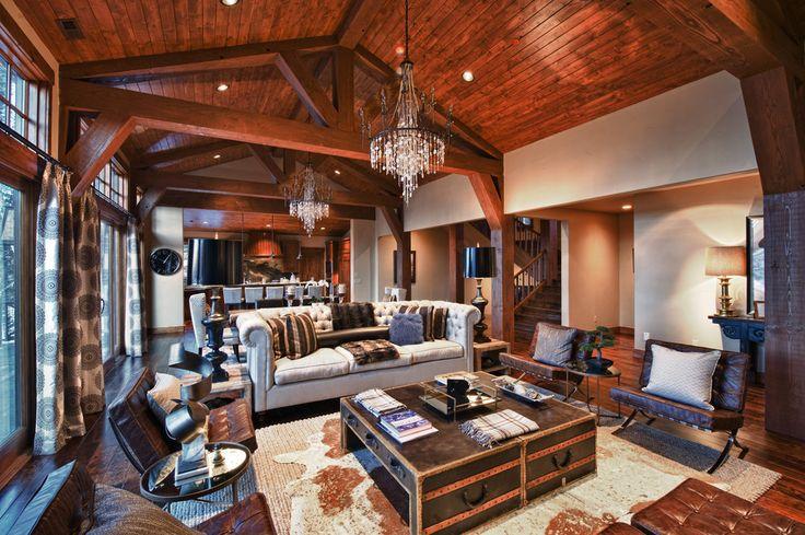 Living room designs alder and tweed rustic room trunk coffee table