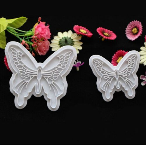 2Pcs Butterfly Cake Fondant Decorating Sugarcraft Cookie Lovely Cutters Mold