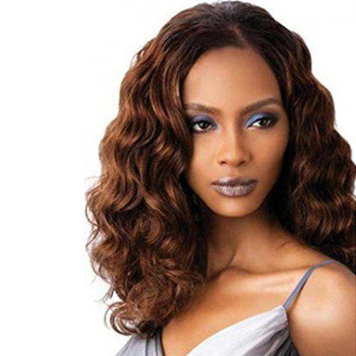 Tefamore Tempérament élégant dans le Ladies Perruques longs cheveux bruns bouclés Mode: Tweet Description: Nos perruques sont faites de…