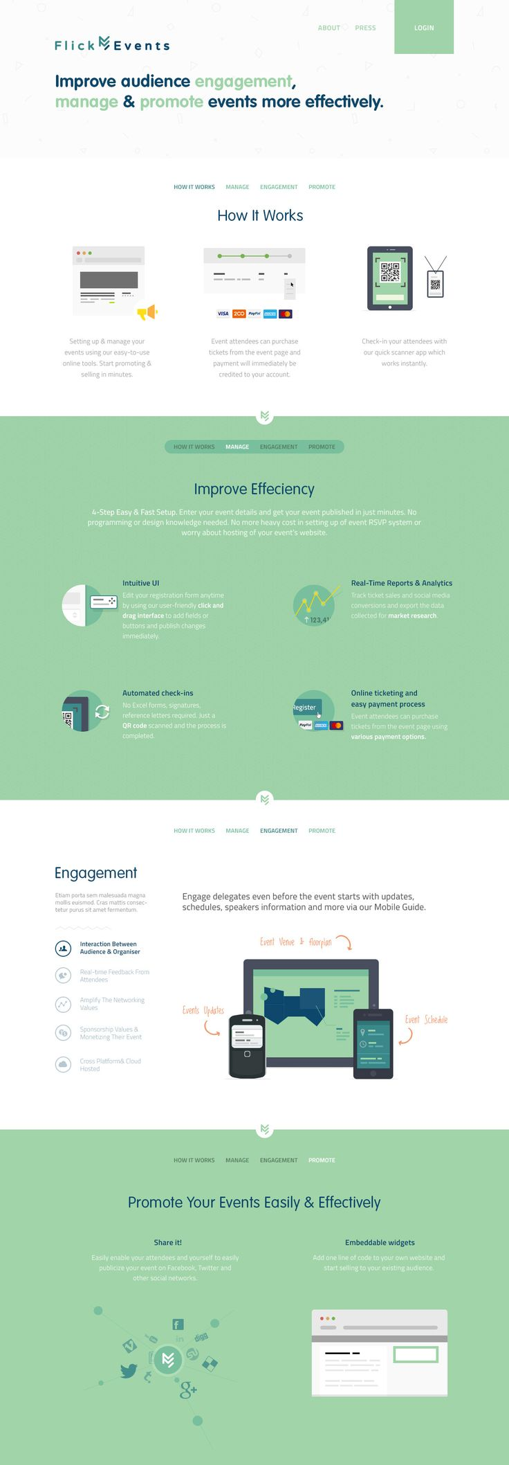 Unique Web Design, Flick Events #WebDesign #Design (http://www.pinterest.com/aldenchong/)