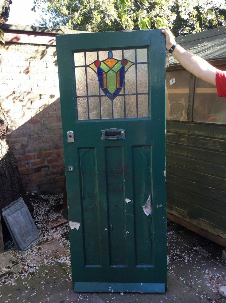 Vintage Original 1930s Front Door Stained Glass. Letterbox RESTORATION PROJECT
