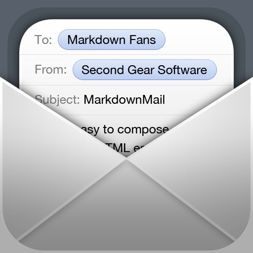 MarkdownMail iOS App Icon