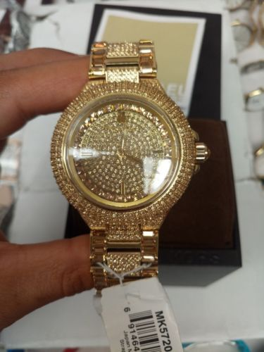 cd42db9a79dc Michael Kors Watch Camille Gold Pave Dial Crystal Encrusted For Women's  MK5720 in 2018 | Michael kors for women | Pinterest | Watches, Michael kors  and ...