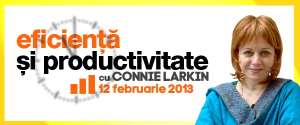 Connie Larkin - Curs de Eficienta si Productivitate (12.02.2013)