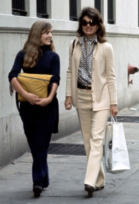 In New York with Caroline, Oct. 1971.