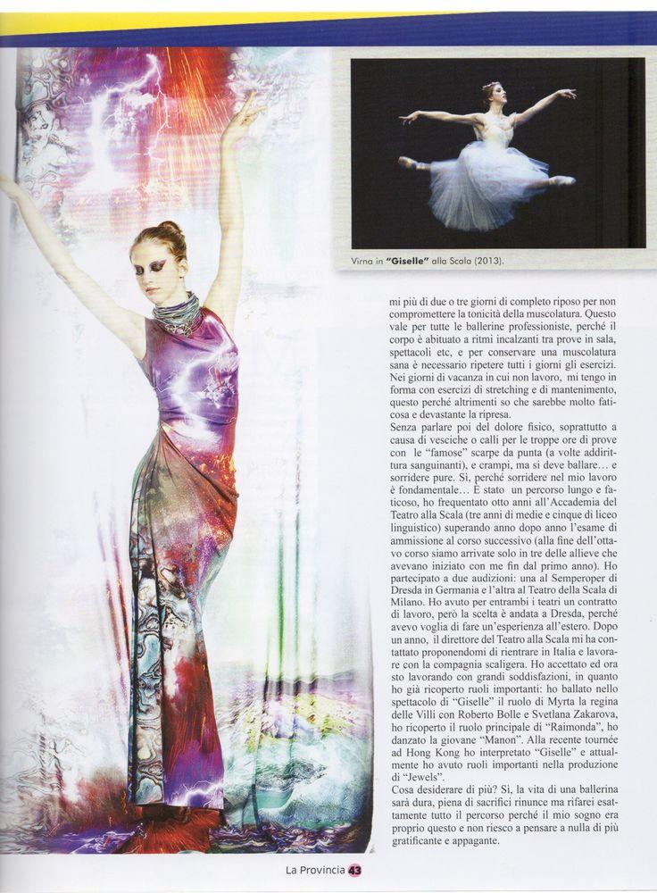 Our amazing étolie Virna Toppi's interview #interview #intervista #VirnaToppi #étoile #LaScalaDiMilano #danza #ballerina #dance #madeinitaly #Italy #moda #fashion #design #RobertaRedaelli