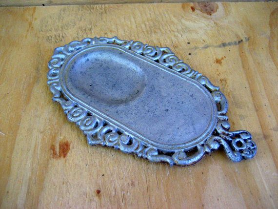 Vintage spoon rest metal industrial by Artcapades on Etsy
