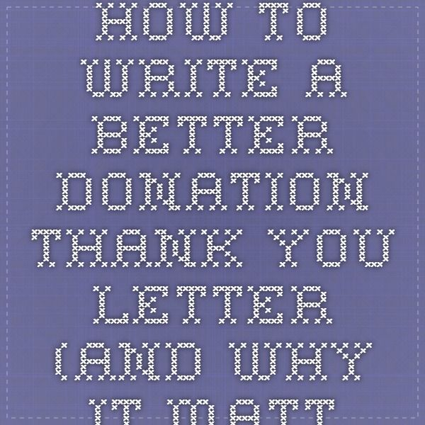 The 25+ best Donation thank you letter ideas on Pinterest Thank - writing donation thank you letters