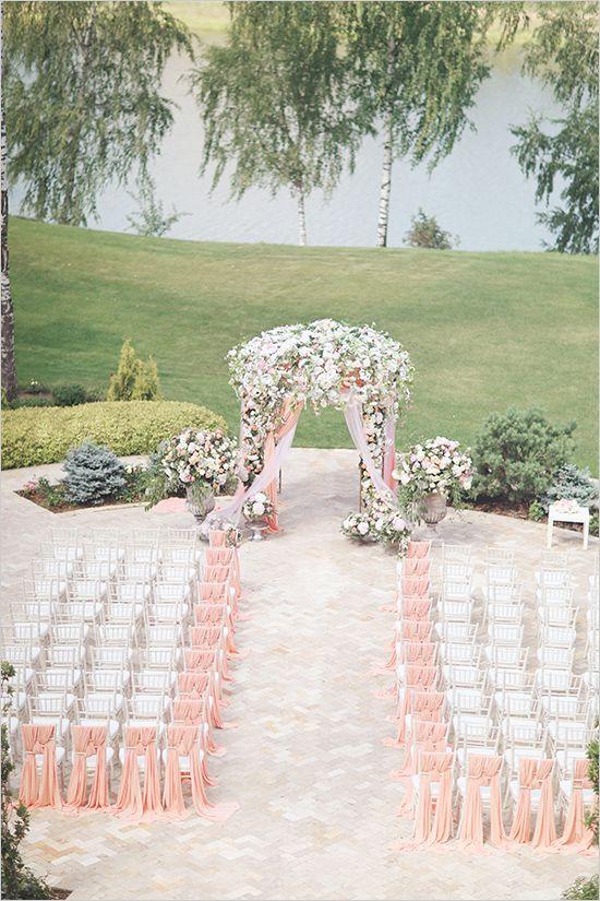 floral wedding arch #pinkceremony @weddingchicks