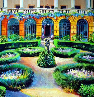Villa in Vicenza, diptych