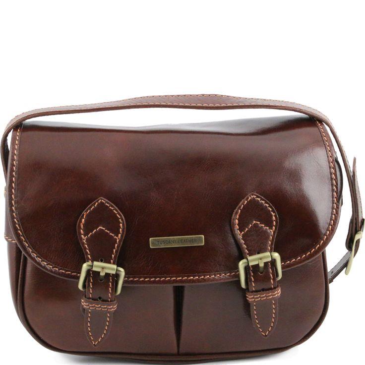 Michelle TL141238  Leather shoulder bag with adjustable strap - Borsa in pelle con tracolla regolabile