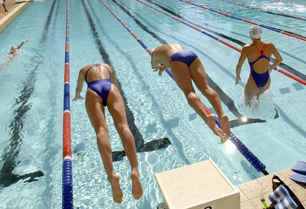"Young swimmers hoping to emulate the double Olympic gold medallist Rebecca Adlington's Beijing exploits at the London 2012 Games are being subjected to an unacceptably heavy training regime and excessive ""surveillance"", a study has concluded."