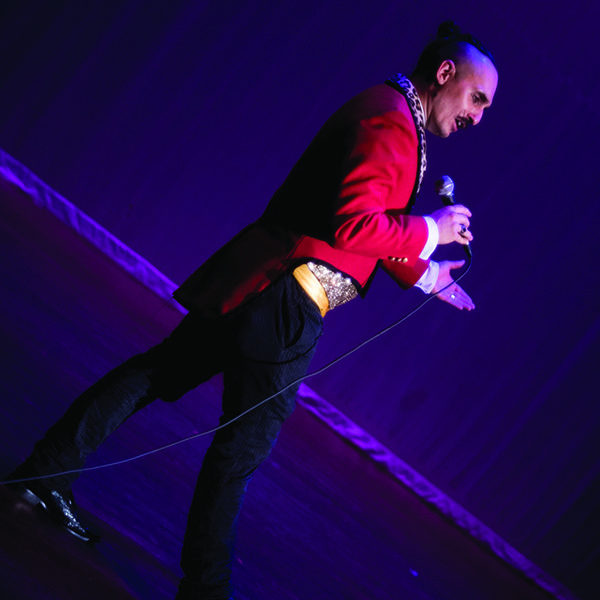 Here we see the ringmaster Tim addressing the audience during one of our productions on stage at 7stages in Atlanta Georgia.  #emcee #Host #MC #TheImperialOPA #Circus #Atlanta #OPA #AtlantaCircus ------------- #1 rated entertainment booking company in GA!   Contact us today and lets make unforgettable events together!