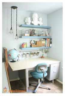 Love the theme and retro colors and vibe. Embellishments Kids: Genius Boy's Bedroom - The Theory of Decorativity
