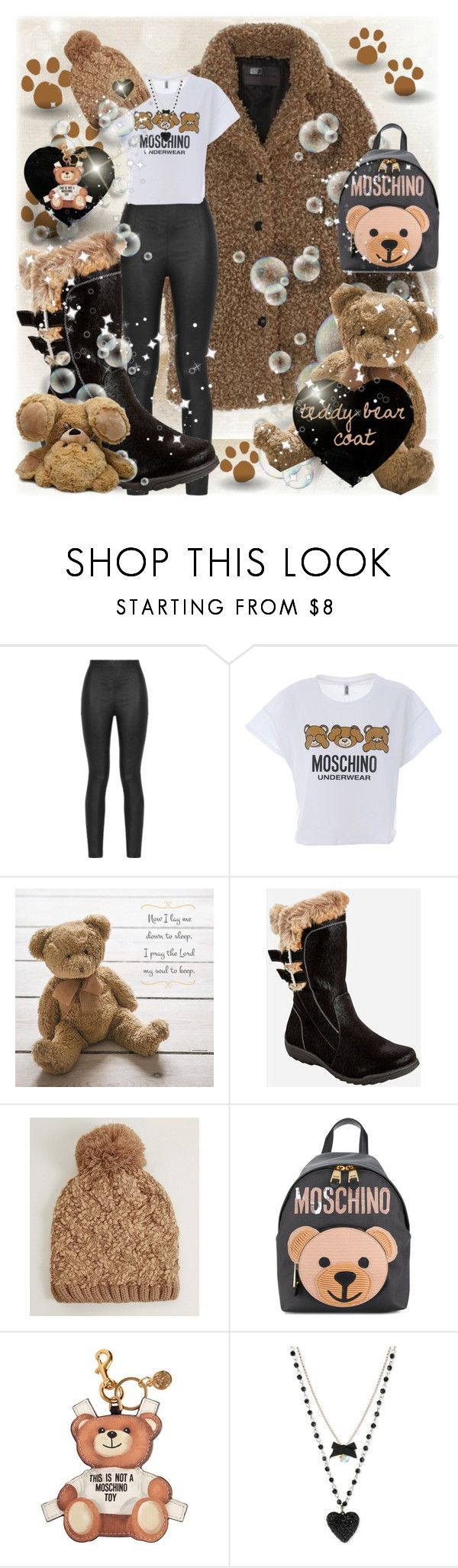 """""""teddy bear coat"""" by traceyenorton ❤ liked on Polyvore featuring Armani Jeans, Moschino, DutchCrafters, Ashley Stewart, D&Y and Betsey Johnson"""