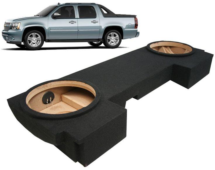"2002-2013 Chevy Avalanche Car Audio Custom Dual 12"" Subwoofer Enclosure Sub Box - GM2X12-AV-ECL-US"