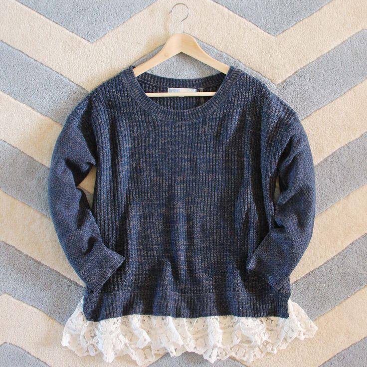 The Boyfriend Lace Sweater, Cozy Boyfriend Fit Sweaters from Spool 72.   Spool No.72