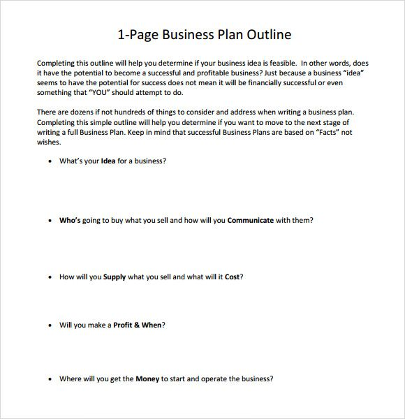 Business Image By Bearly Articulating One Page Business Plan
