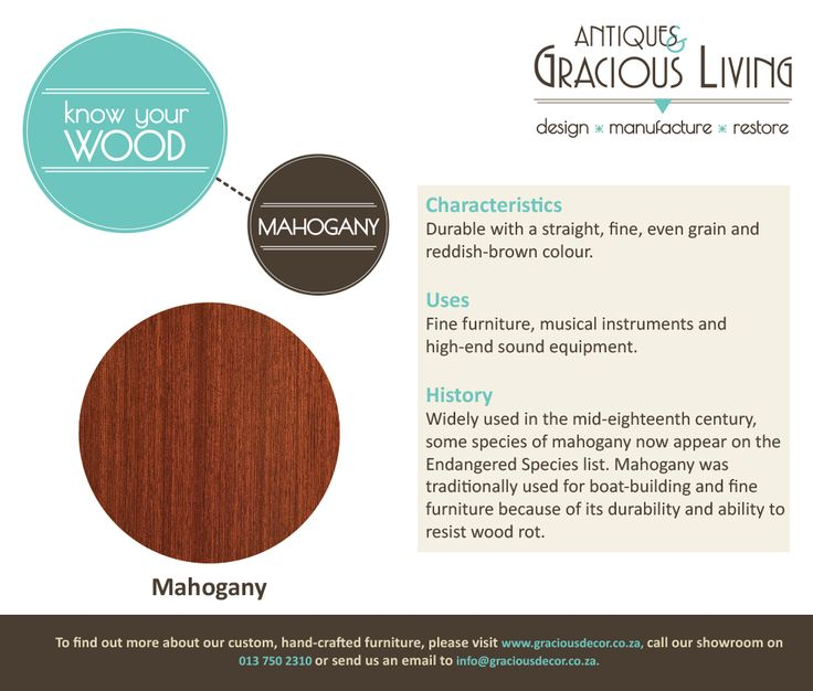 Know Your Wood! Mahogany