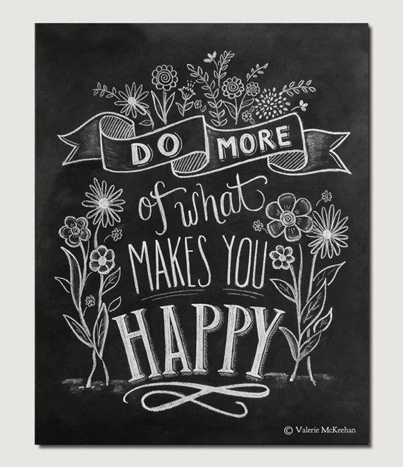 Meer van wat je gelukkig motivationele Print bloem door LilyandVal