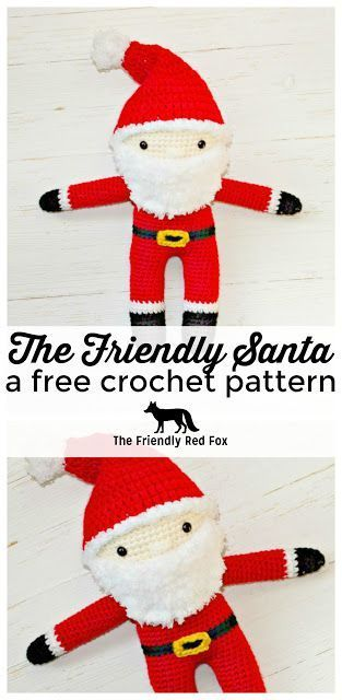 This Free Crochet Santa Pattern is perfect for decoration or play. A Christmas crochet pattern that is fun and festive!