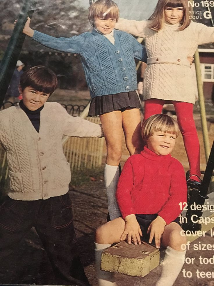 Knitting Patterns Girl Boy Aran Knits 40 Page Booklet Various Designs Vintage PDF by CraftybyLulu on Etsy