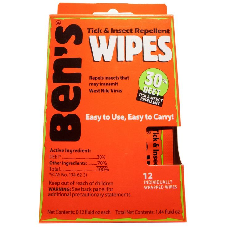 Ben's 8-Hour Tick & Insect Repellent Towelettes