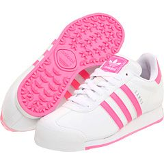 Pink and White Adidas Shoes