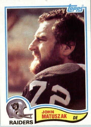 1982 Topps # 195 John Matuszak Oakland Raiders Football Card - In Protective Screwdown Display Case! by Topps. $1.25. 1982 Topps # 195 John Matuszak Oakland RaidersFootball Card - In Protective Screwdown Display Case!