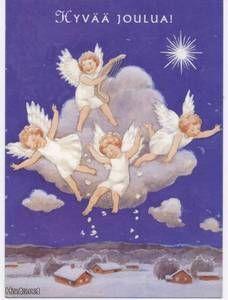 Rudolf Koivu - Pienet enkelit pilven reunalla - 0.7 € - Signeeratut taiteilijakortit - Postikortit - Keräily - Huuto.net - (avoin)