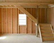 E60 Interior of Legacy Two Story ShedInside a Legacy Two Story Shed - Legacy buildings include a full-sized stairway