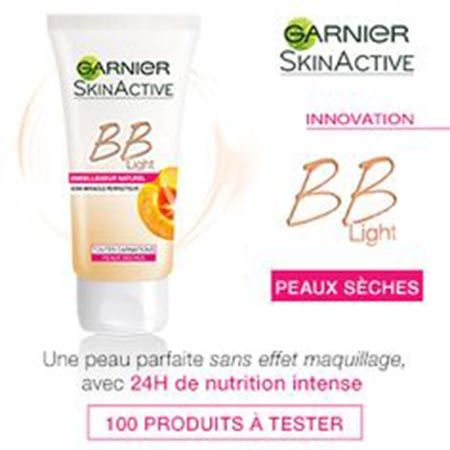 Participer au jeu concours Garnier et tenter de gagner un cadeau gratuit parmi les 100 crèmes BB LIGHT Peaux sèches de Garnier !
