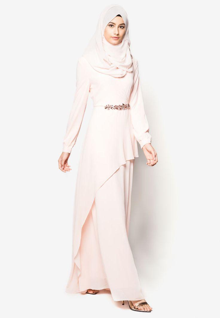 Zalia Embellished Chiffon Dress I Beli di ZALORA Indonesia ®