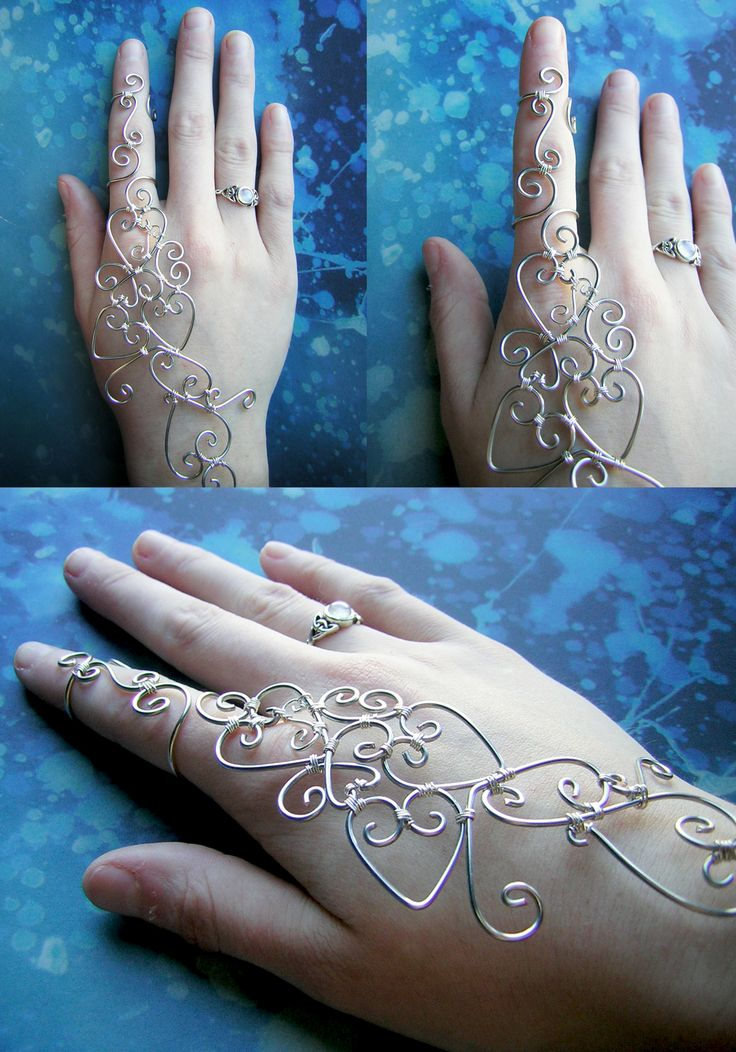 Wire Wrapped Henna Bracelet by RachaelsWireGarden.deviantart.com on @deviantART